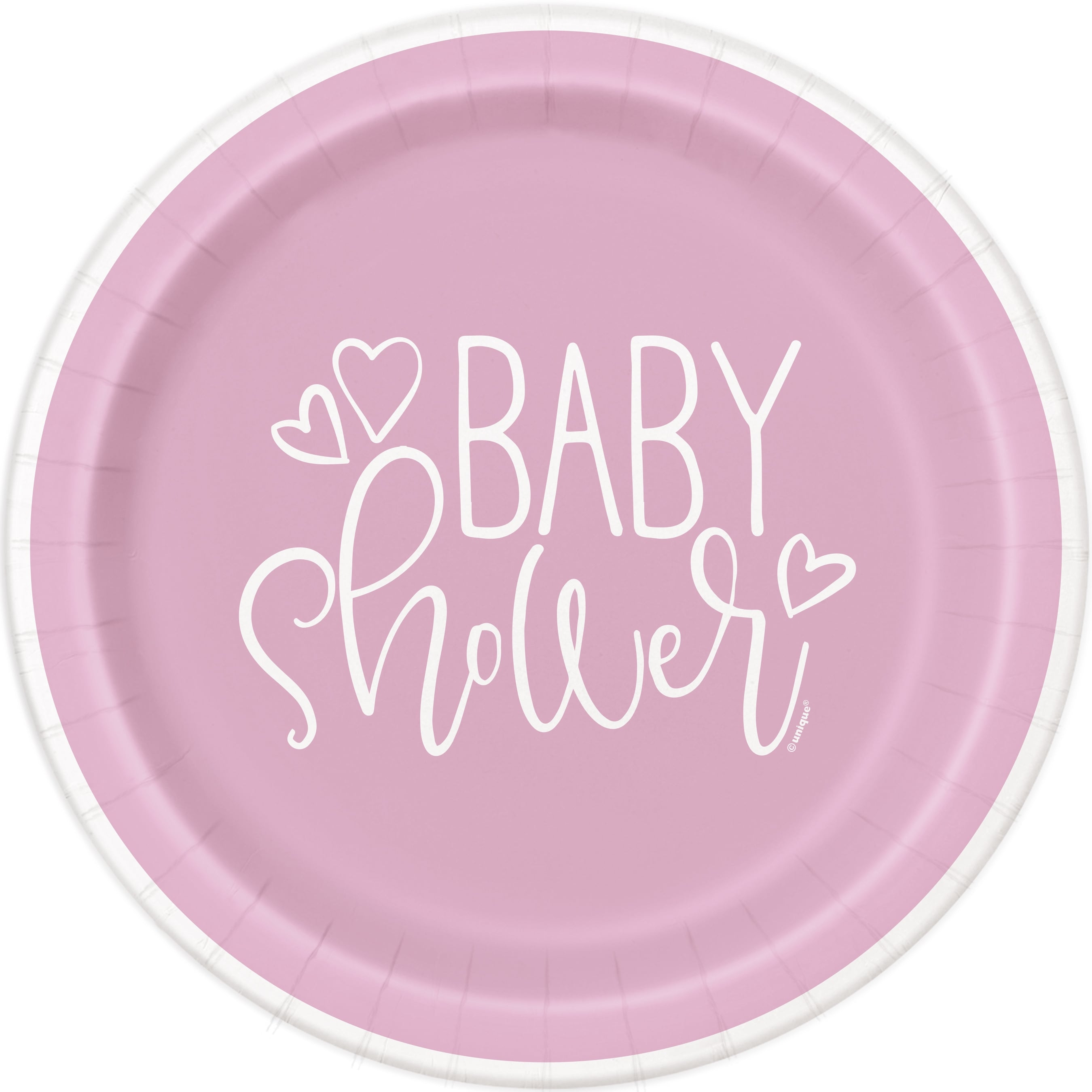 Pink Hearts Baby Shower Theme