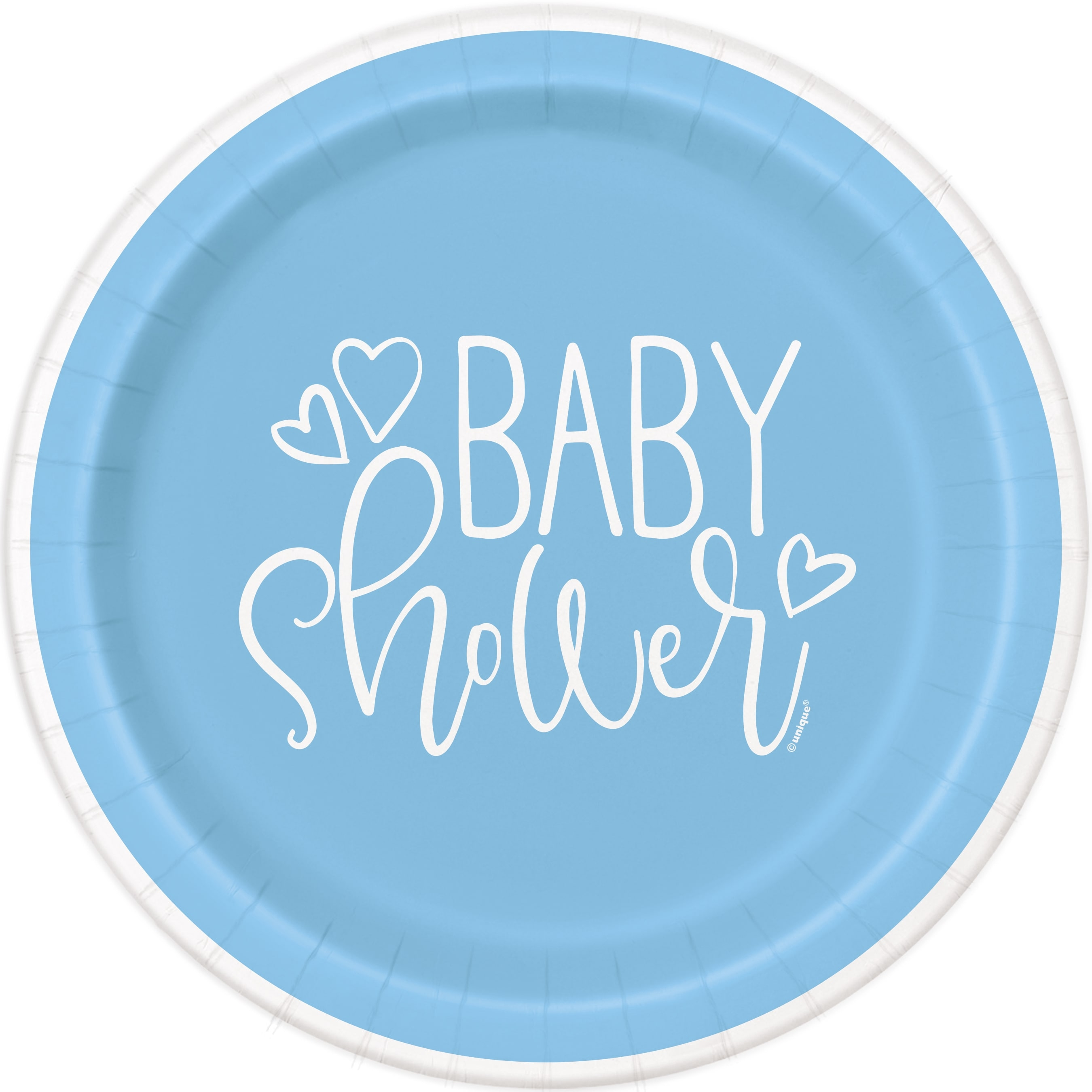 Blue Hearts Baby Shower Theme
