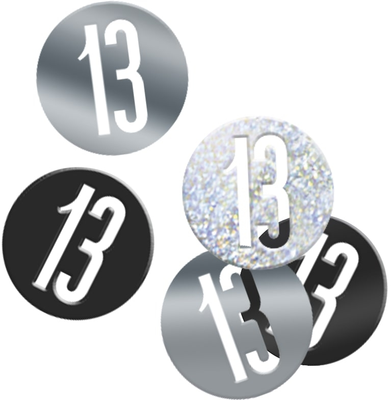13th Birthday Black Partyware