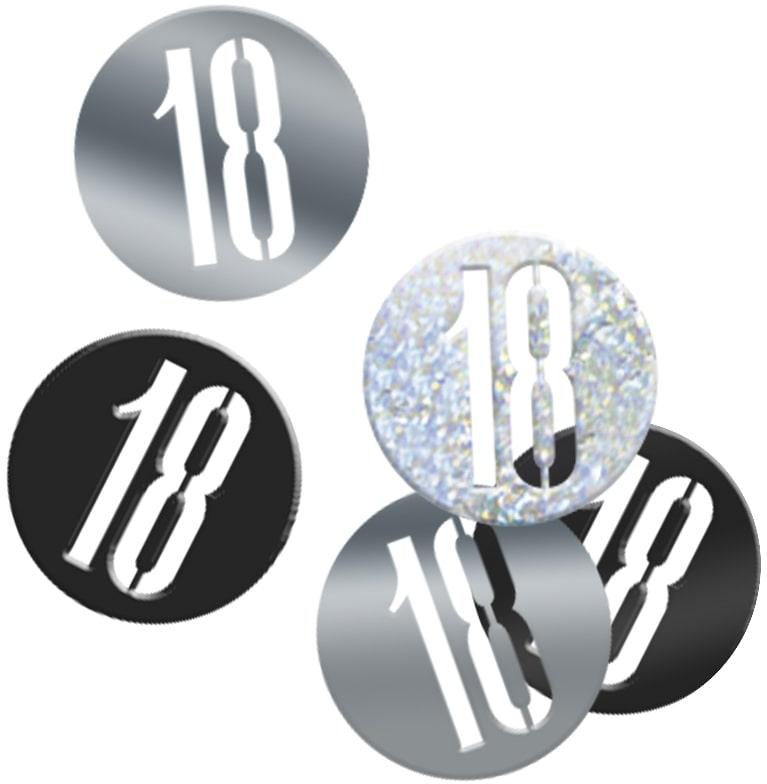 18th Birthday Black Partyware