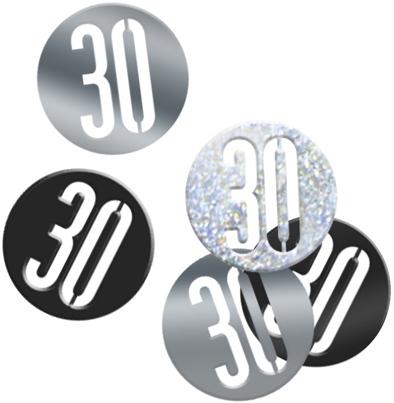 30th Birthday Black Partyware