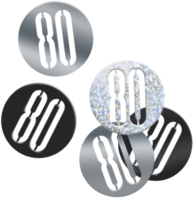 80th Birthday Black Partyware