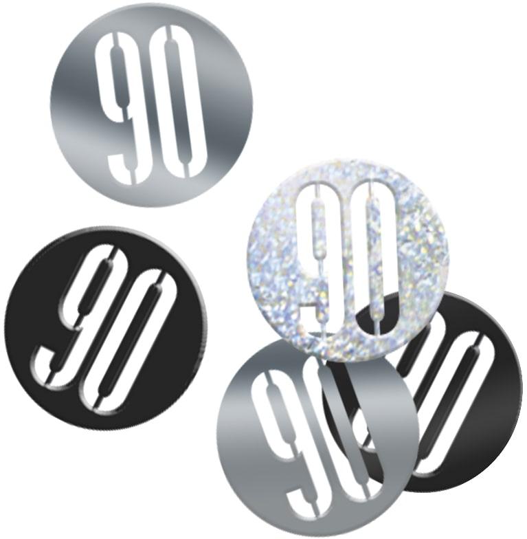 90th Birthday Black Partyware