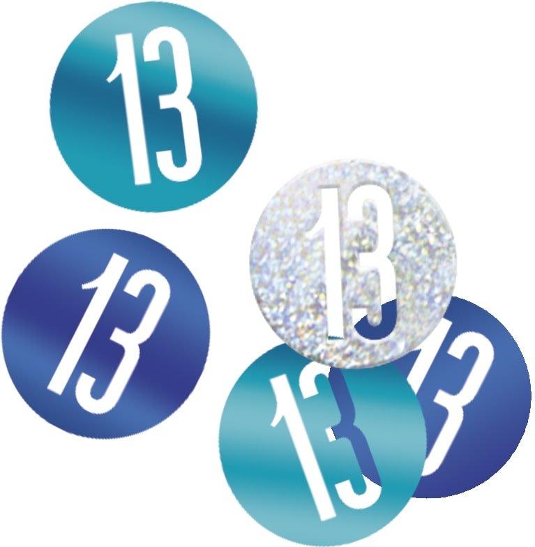 13th Birthday Blue Partyware