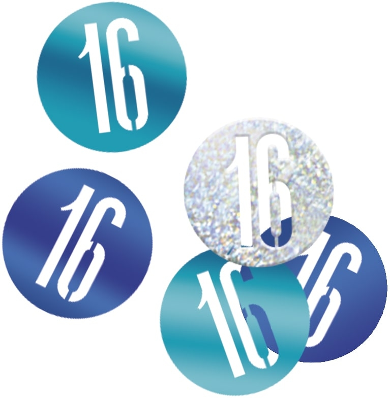 16th Birthday Blue Partyware