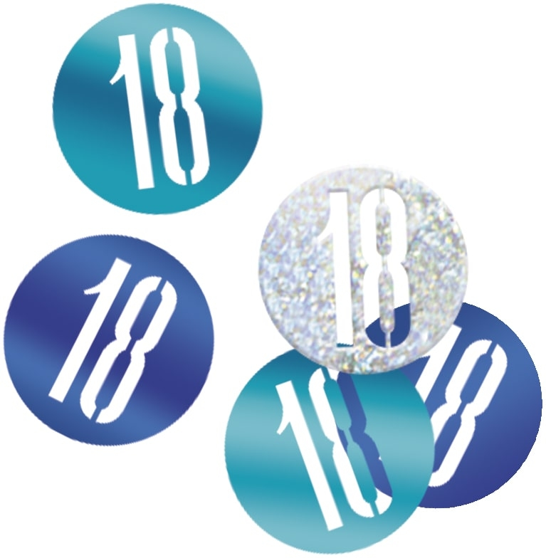18th Birthday Blue Partyware
