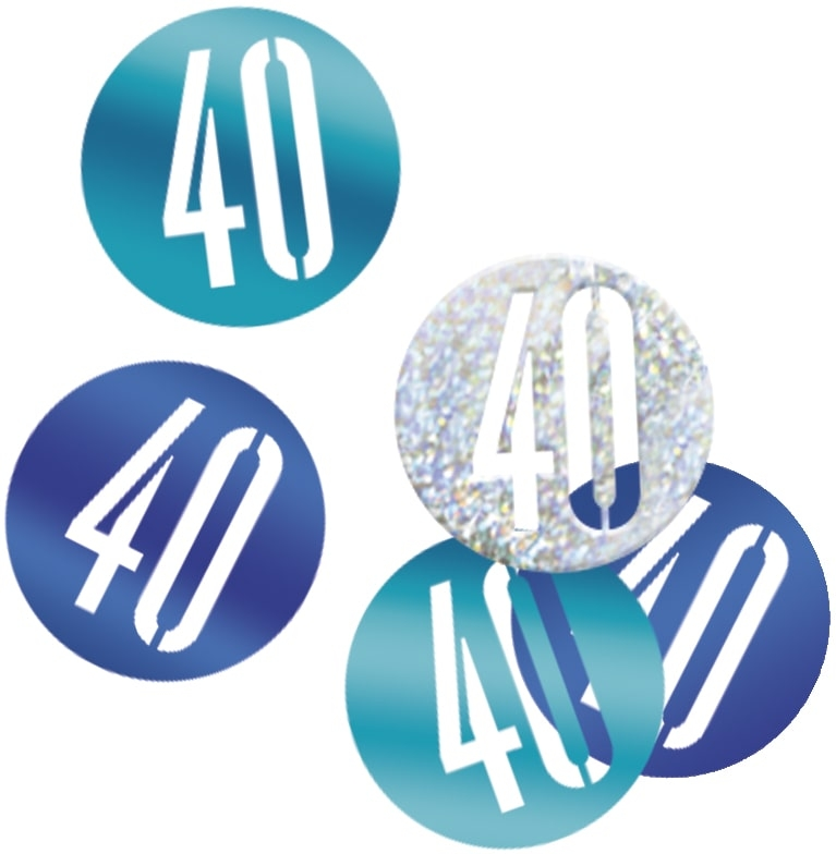 40th Birthday Blue Partyware