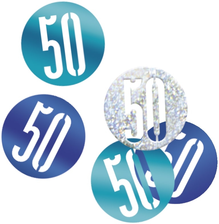 50th Birthday Blue Partyware