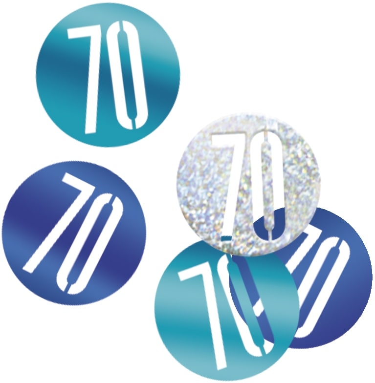 70th Birthday Blue Partyware