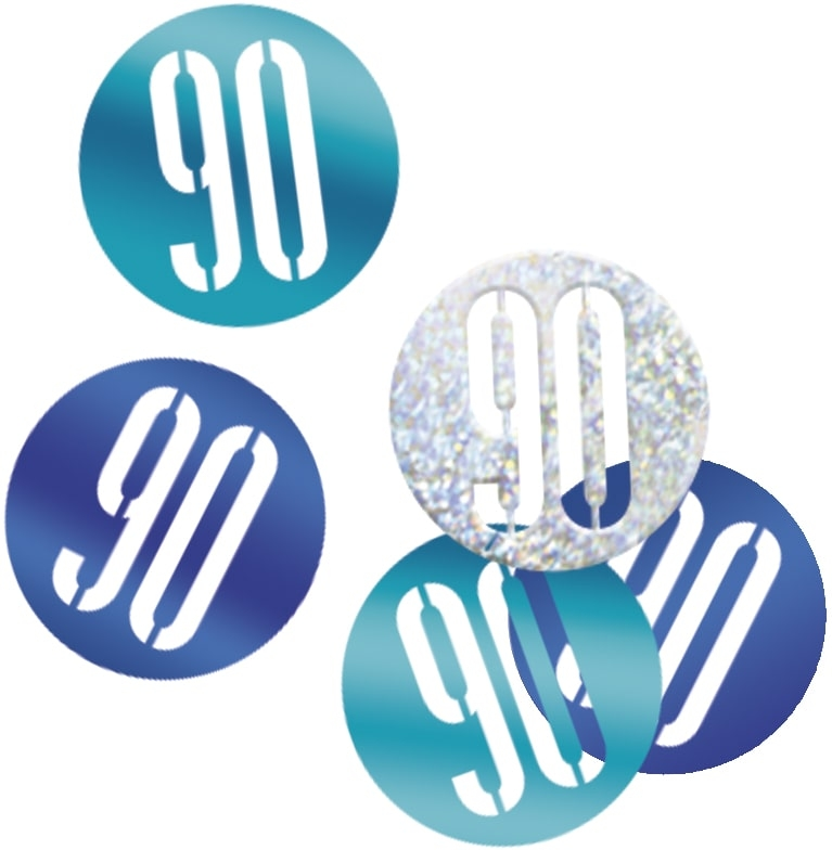 90th Birthday Blue Partyware