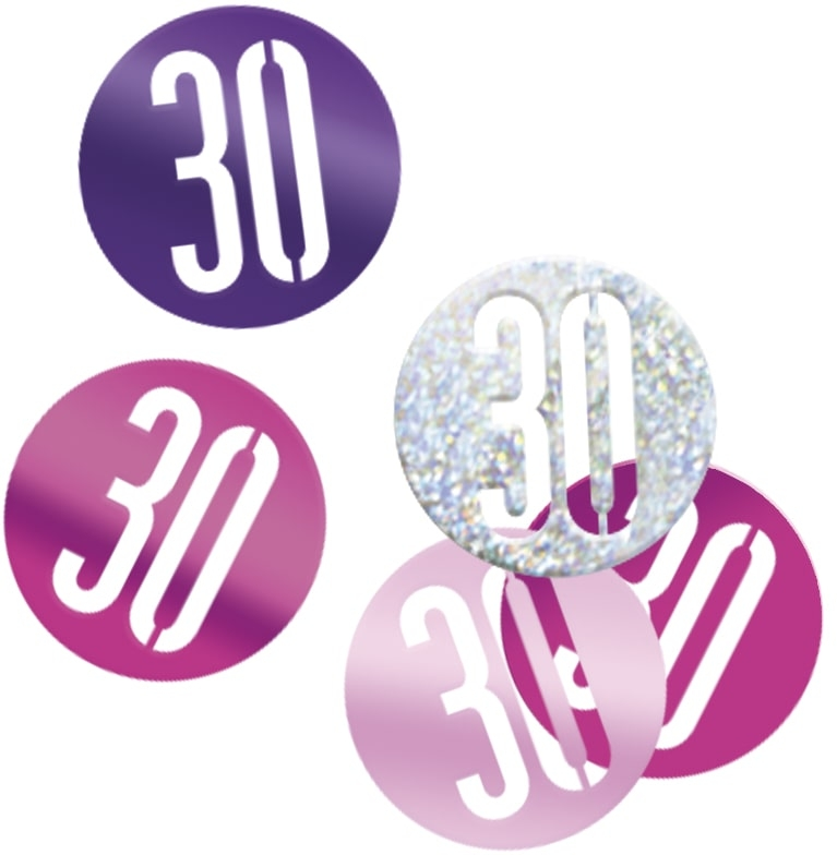 30th Birthday Pink Partyware