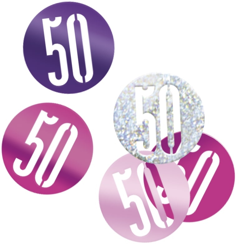 50th Birthday Pink Partyware