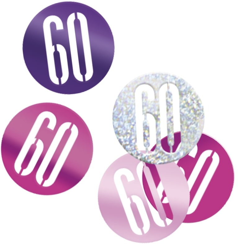 60th Birthday Pink Partyware