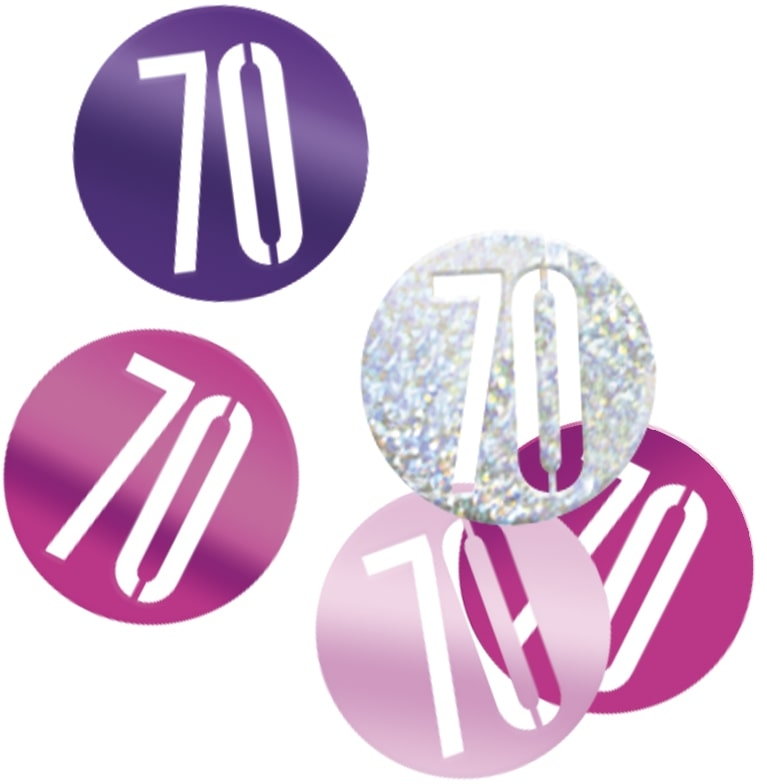 70th Birthday Pink Partyware