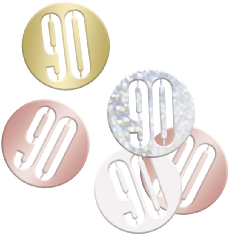 90th Birthday Rose Gold Partyware