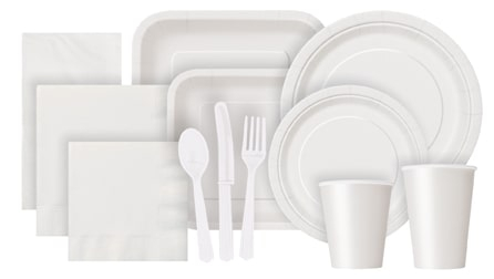 Bright White Partyware