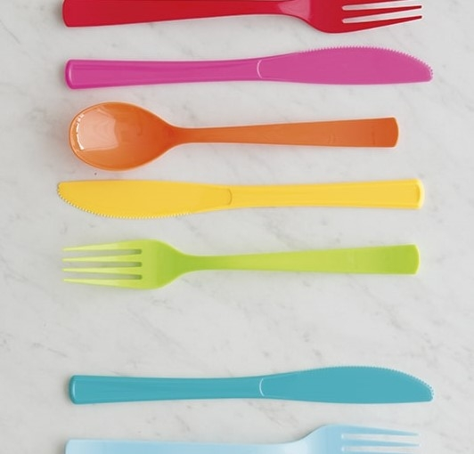 Plastic Cutlery - All Colours