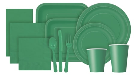 Emerald Green Partyware
