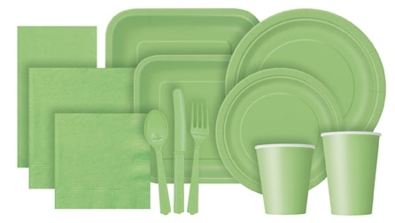 Lime Green Partyware