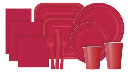 Ruby Red Partyware