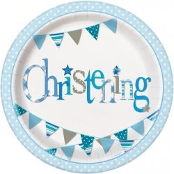 Blue Bunting Christening Partyware