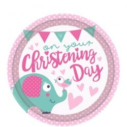 Cute Elephant Christening Day Theme