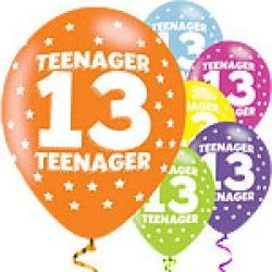 13th Birthday / Teenager Balloons