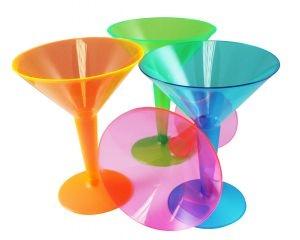 Neon Bright Plastic Partyware
