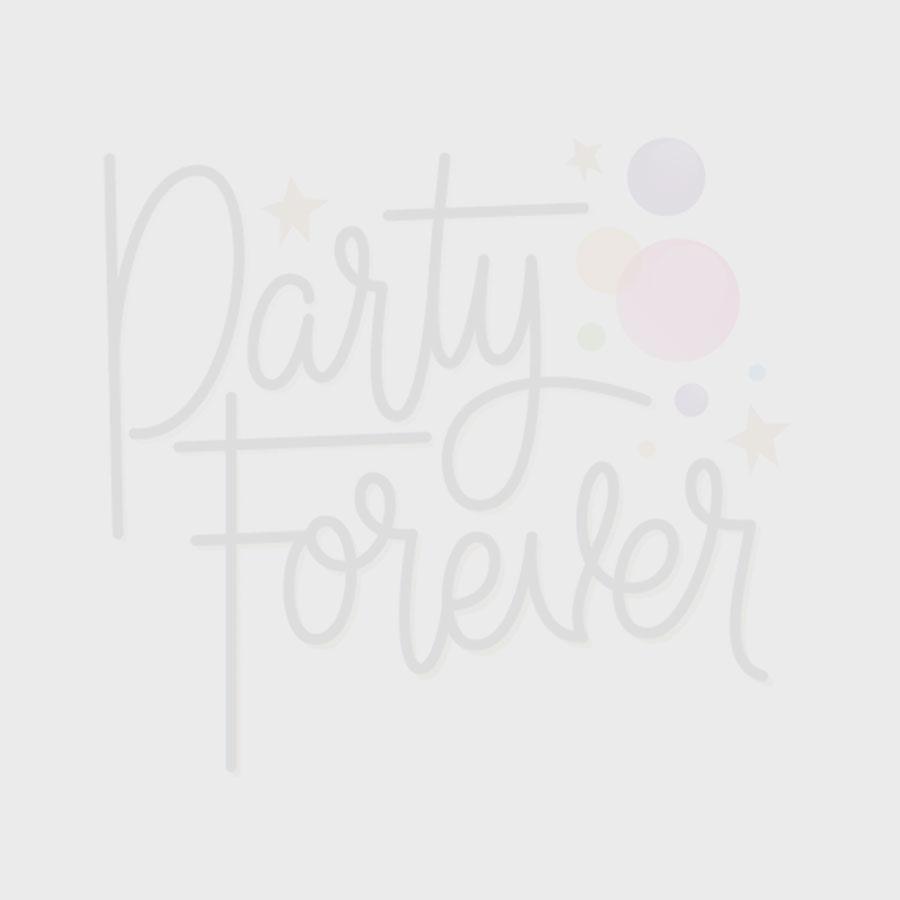 Pink Foil Paper Straws - 10pk