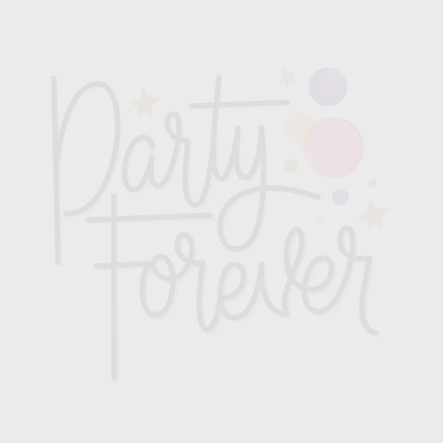 Rainbow Shaped Party Plates with Gold Trim - 8pk